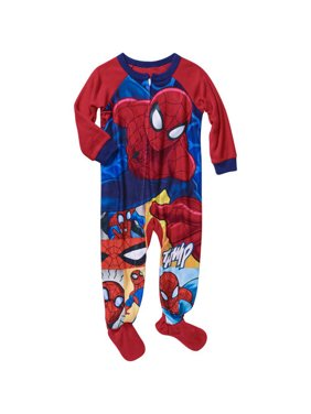 Spiderman Spidey Baby Toddler Boy's 12m - 5t Footed Pajamas