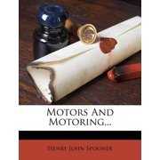 Motors and Motoring...