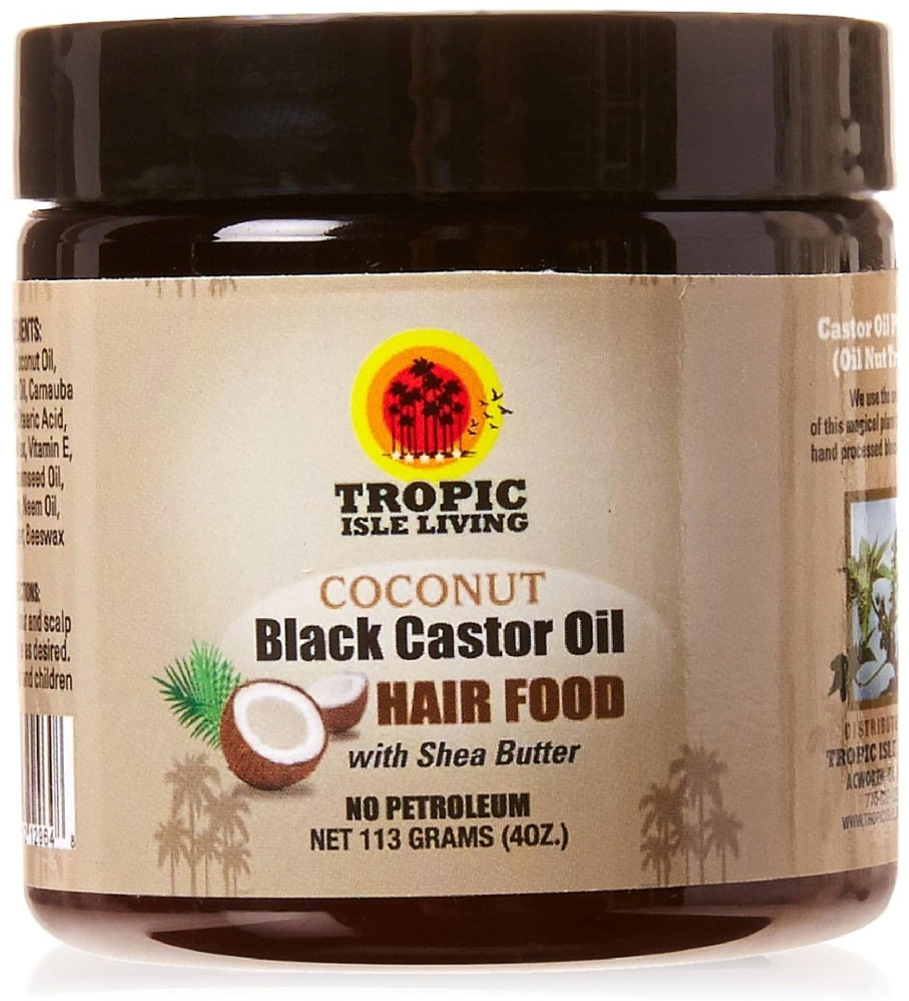 tropic isle living coconut jamaican black castor oil hair