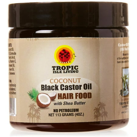 Tropic Isle Living Coconut Jamaican Black Castor Oil Hair Food 4