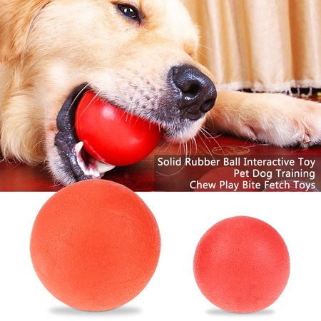 Solid Rubber Ball Interactive Toy Pet Dog Training Chew Play Bite Fetch Toys,Pet Ball Toy, Dog Training Ball Chew Toys Dog Fetch Toy