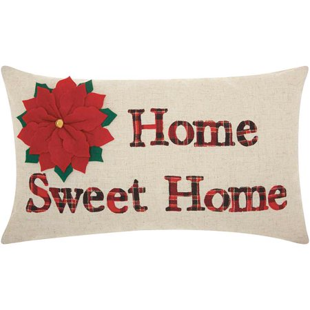 - Nourison Home For The Holiday Home Sweet Home Decorative Throw Pillow, 12