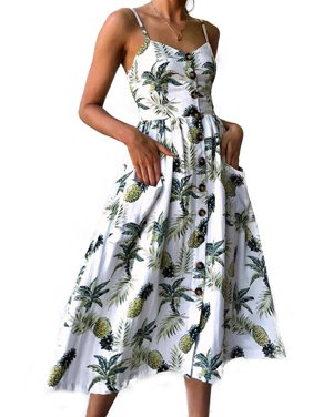 2a23c9c8d6 Product Image Womens Strappy Floral Summer Beach Party Midi Swing