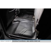 Maxliner 2014-2017 Chevrolet Silverado GMC Sierra Crew Cab Floor Mat Second Row Black B0136