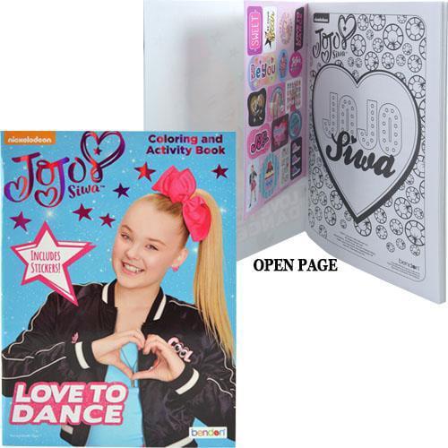 JoJo Siwa 32-Page Coloring Activity Book With Stickers - Walmart.com -  Walmart.com