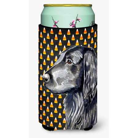 Flat Coated Retriever Candy Corn Halloween Portrait Ultra Beverage Insulators for slim cans
