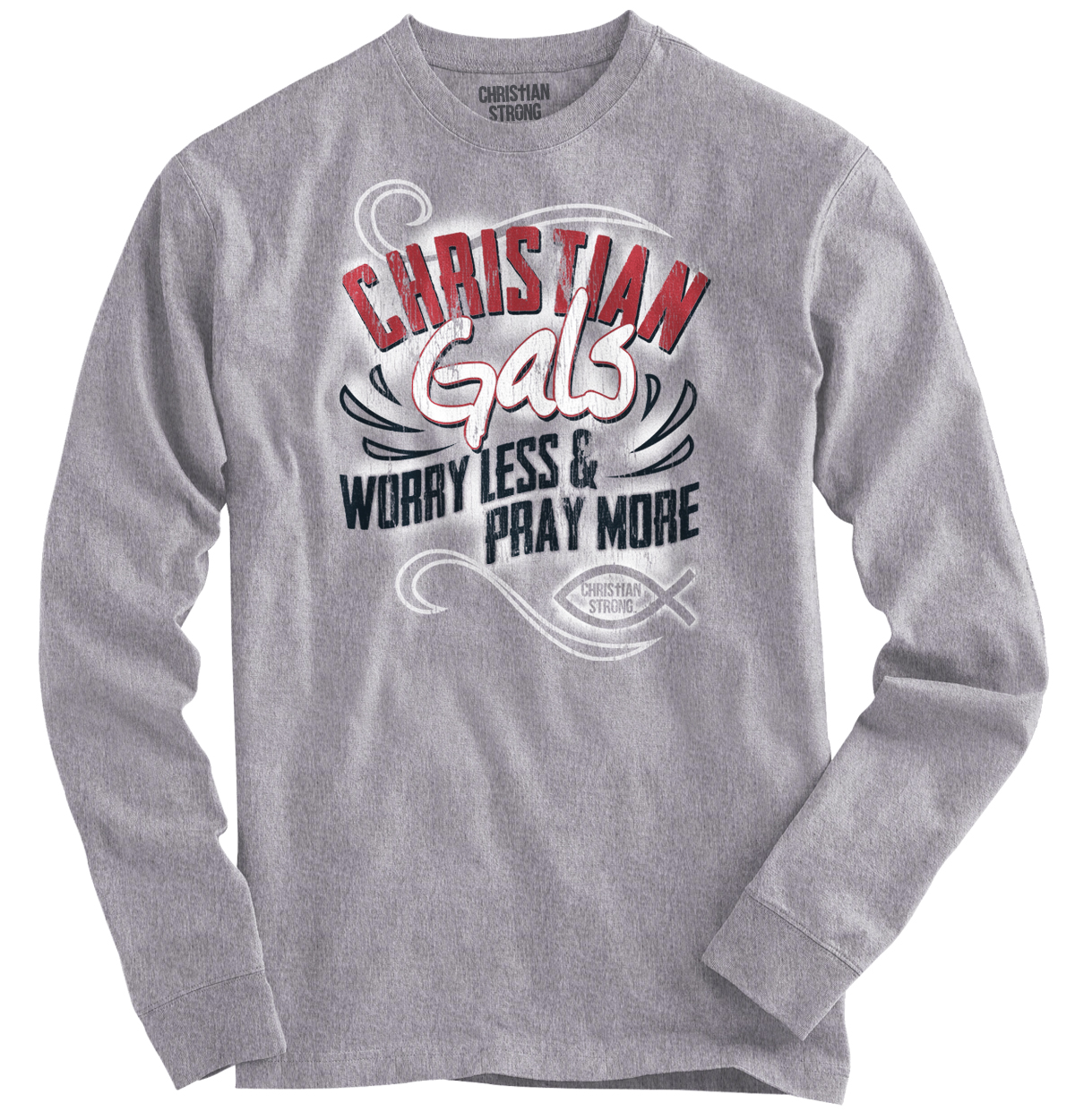 Christian T Shirt For Women | Religious Gifts For Girls Faith Long Sleeve Tee