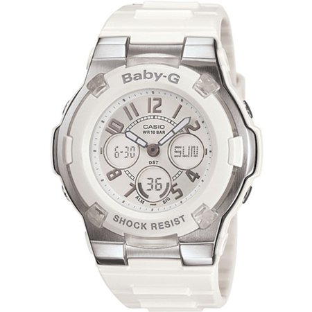 Baby-G White Ladies Watch BGA110-7B (Baby G Shock Watches Women Red)