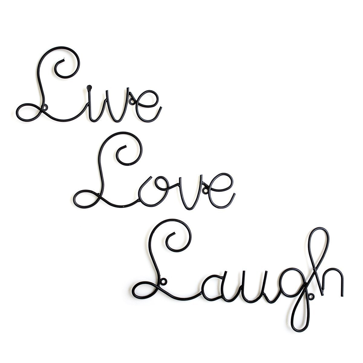 Live Love Laugh Set 3 Wall Mount Metal Wall Word Sculpture By Super Z Outlet®