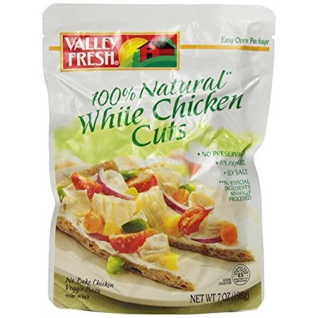 Valley Fresh 100  Natural White Chicken Cuts  7 Oz Pouch