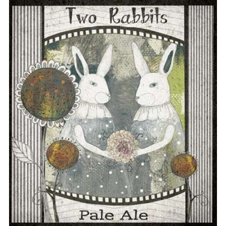 Two Rabbits Pale Ale Stretched Canvas - Sarah Ogren (12 x (Ale Pale Beer)
