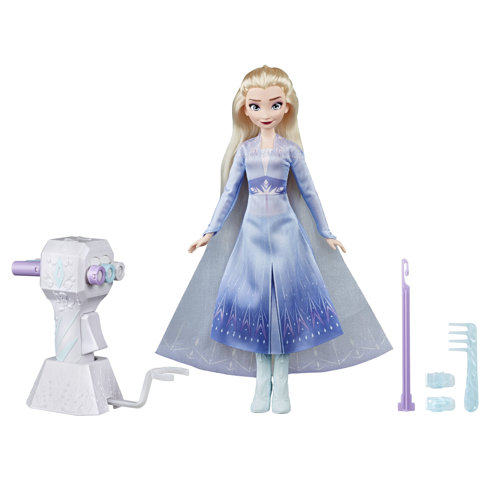 Disney Frozen 2 Sister Styles Long Hair Elsa Fashion Doll with Automatic Hair Braiding Tool