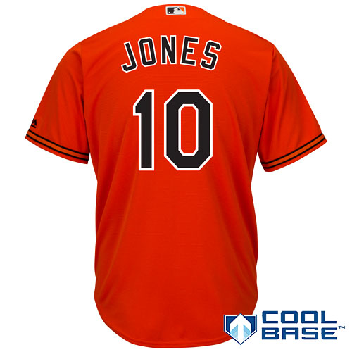 Adam Jones Baltimore Orioles Majestic Cool Base Player Jersey - Orange