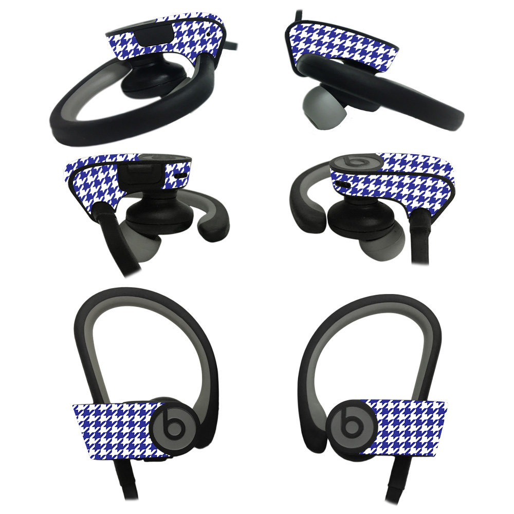 MightySkins Skin For Beats Powerbeats2 Headphones - Black Argyle | Protective, Durable, and Unique Vinyl Decal wrap cover | Easy To Apply, Remove, and Change Styles | Made in the USA