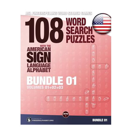 108 Word Search Puzzles with the American Sign Language Alphabet, Volume 04 (Bundle Volumes 01+02+03) : ASL Fingerspelling Word Search (Umberto Eco Search For The Perfect Language)