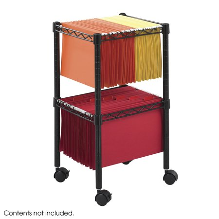 Safco Products Compact (Two-Tier Compact File Cart, Black )