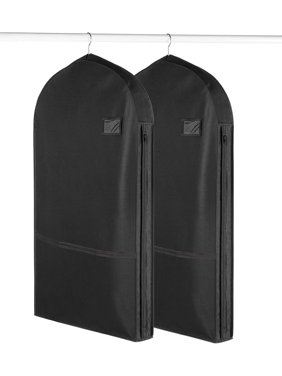 27194abaa3 Product Image Living Solutions (2 Pack) Deluxe Garment Bags With Pockets  For Storage Travel Suits Dresses