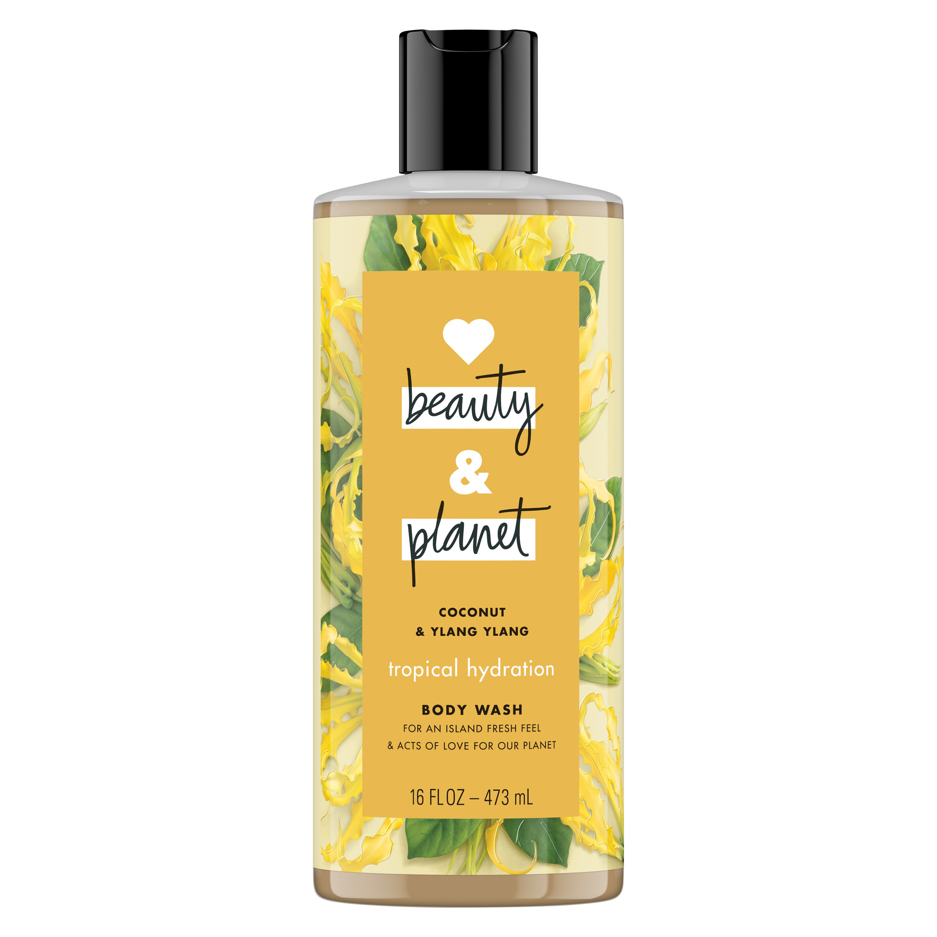 Love Beauty And Planet Tropical Hydration Body Wash Coconut Oil & Ylang Ylang 16 oz