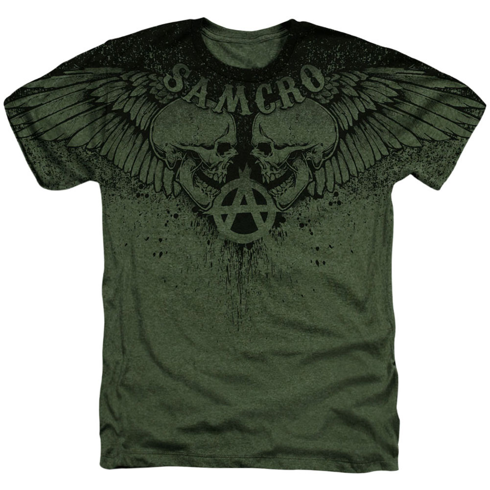 Sons Of Anarchy Men's  Winged Skulls T-shirt White