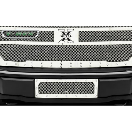 Bumper Grille Replacement (T-Rex Grilles 6725740 X-Metal Series Mesh Bumper Grille Assembly; 1 pc.; Formed Mesh; Polished Stainless Steel; Replacement; )