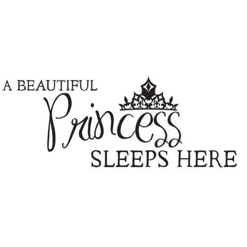 Dana Decals A Princess Sleeps Here Wall Decal