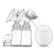 Double Electric Breast Pumps Strong Suction 310mmHg Max, Pain Free Breastfeeding Pump with 2 Modes & 9 Levels and Memory Function, Rechargeable and Portable