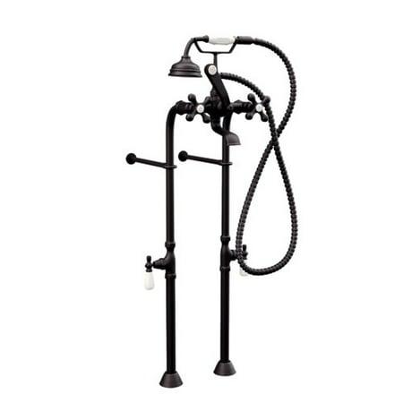 Cambridge Plumbing Clawfoot Freestanding Faucet Tub with Hand Held Shower