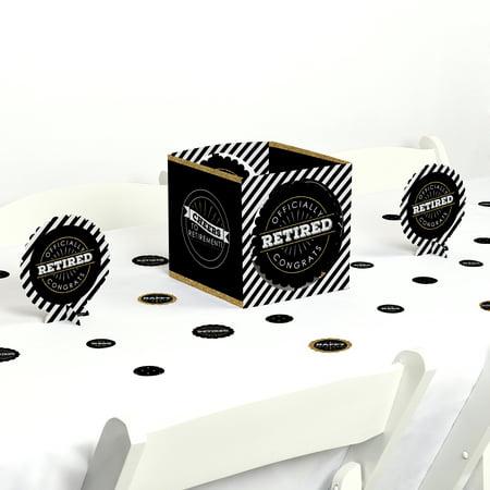 Happy Retirement - Retirement Party Centerpiece & Table Decoration Kit