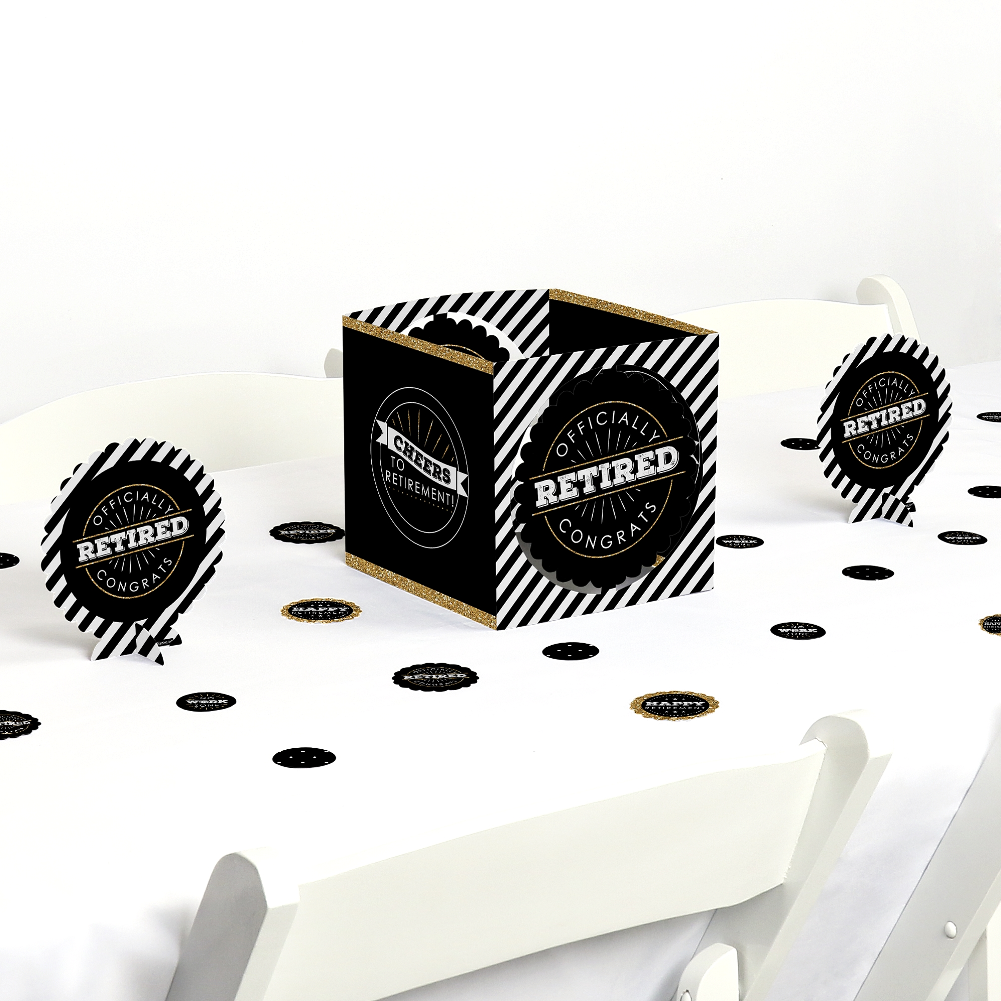 Happy Retirement - Retirement Party Centerpiece & Table Decoration Kit