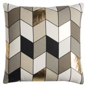 "Rachel Kate By Rizzy Home Decorative Poly Filled Throw Pillow Geometric 20""X20"" Gray"