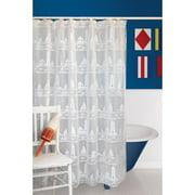 Harbor Lights White Shower Curtain 72 x 72