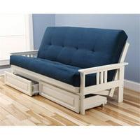 Kodiak Monterey Frame Suede Mattress Storage Drawers, Blue - Blue