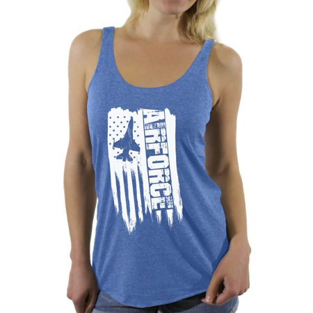 Awkward Styles American Flag Airforce Women Racerback Tank Top One Nation Pro America Airforce Women Shirt I'm American 4th of July Airforce Tank for Women USA Gifts Patriotic Airforce Women