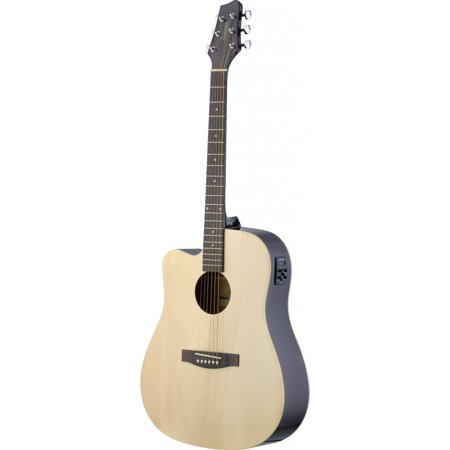 Stagg SA30DCE-N LH Dreadnought Cutaway Acoustic-Electric Guitar - Left Handed - Natural