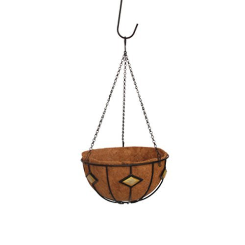 Border Concepts Diamond Hanging Basket with Liner