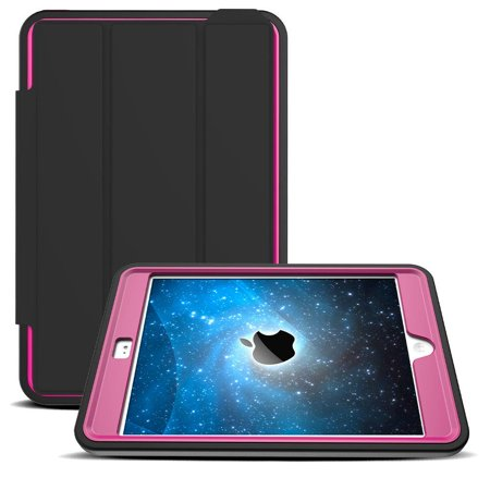 Ipad 2 Case Cover - Shockproof with Stand Flip Smart Case Cover For iPad Mini 1 2 3 Pink