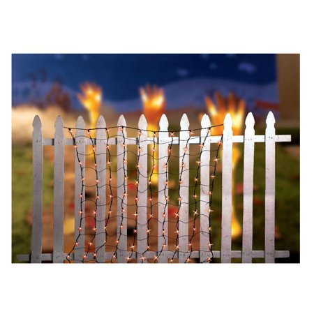 Celebrations 186PAE11 Net Set Halloween Light, Orange, 4' W x 4' L (Halloween Celebrations New Orleans)