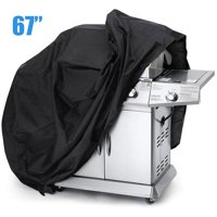 """Universal Gas Grill Cover, 57"""" 58"""" 67""""  Waterproof Barbecue BBQ Cover Durable Nylon Fabric Resistant Material, Fits Grills of Weber Char-Broil Nexgrill Brinkmann and More"""