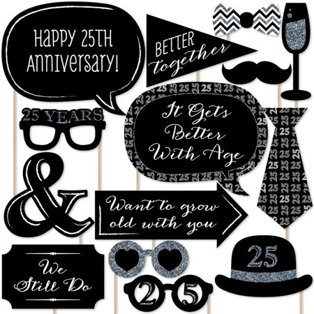 25th Anniversary - Photo Booth Props Kit - 20 Count ()