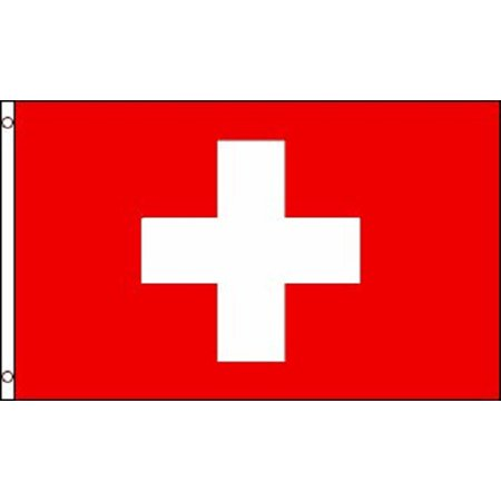 3x5 Switzerland Flag Swiss Polyester Flag 3' x 5' - Europa Flags
