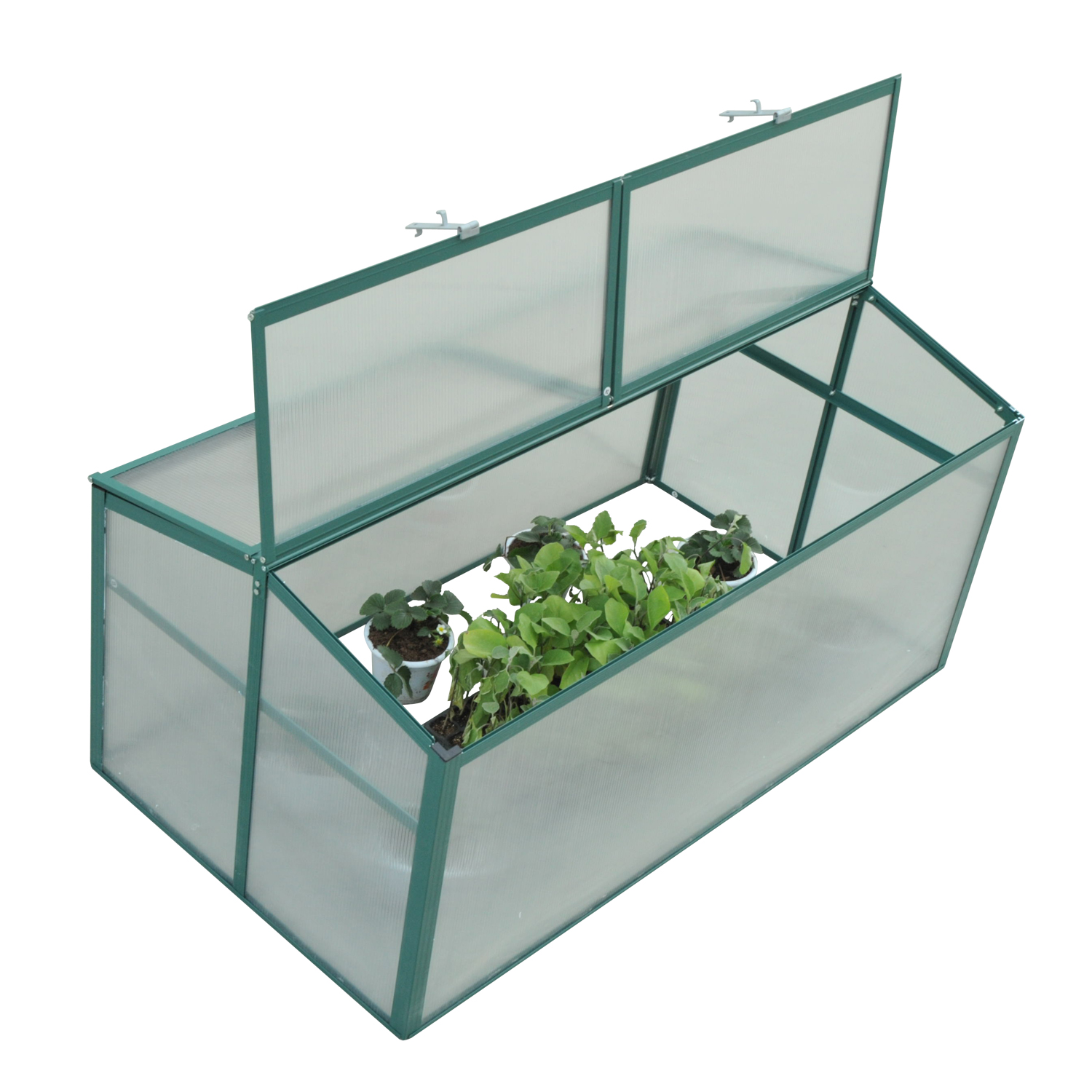 "Outsunny 52"" x 28"" Aluminum Vented Cold Frame Greenhouse by Aosom"