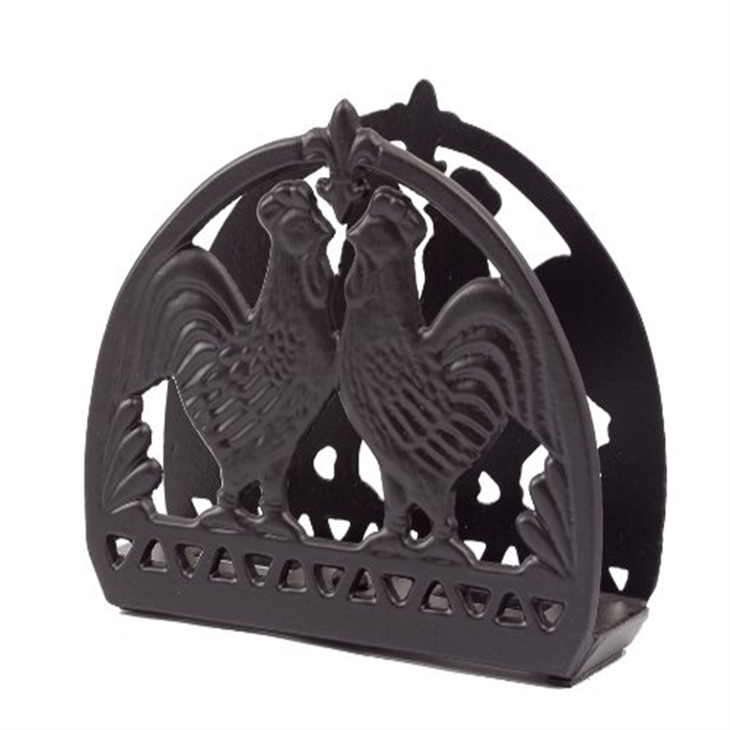 Old Dutch Rooster Napkin Holder, 6 by 2 by 5-Inch, Matte Black