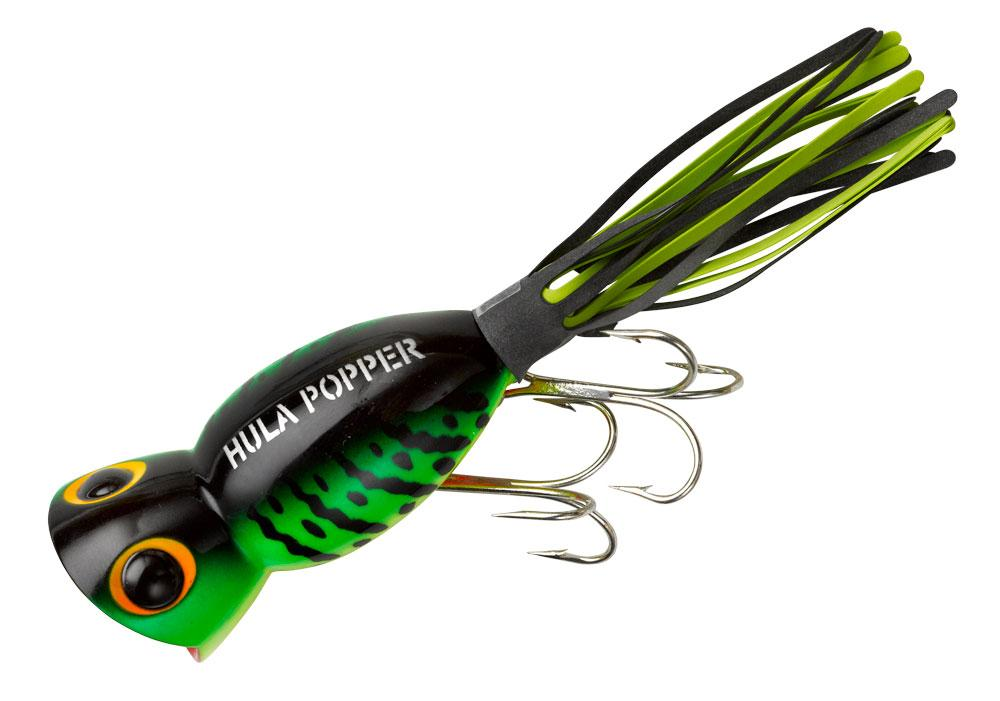 Arbogast Hula Popper 5 8 oz Fishing Lure Fire Tiger by Arbogast Lures
