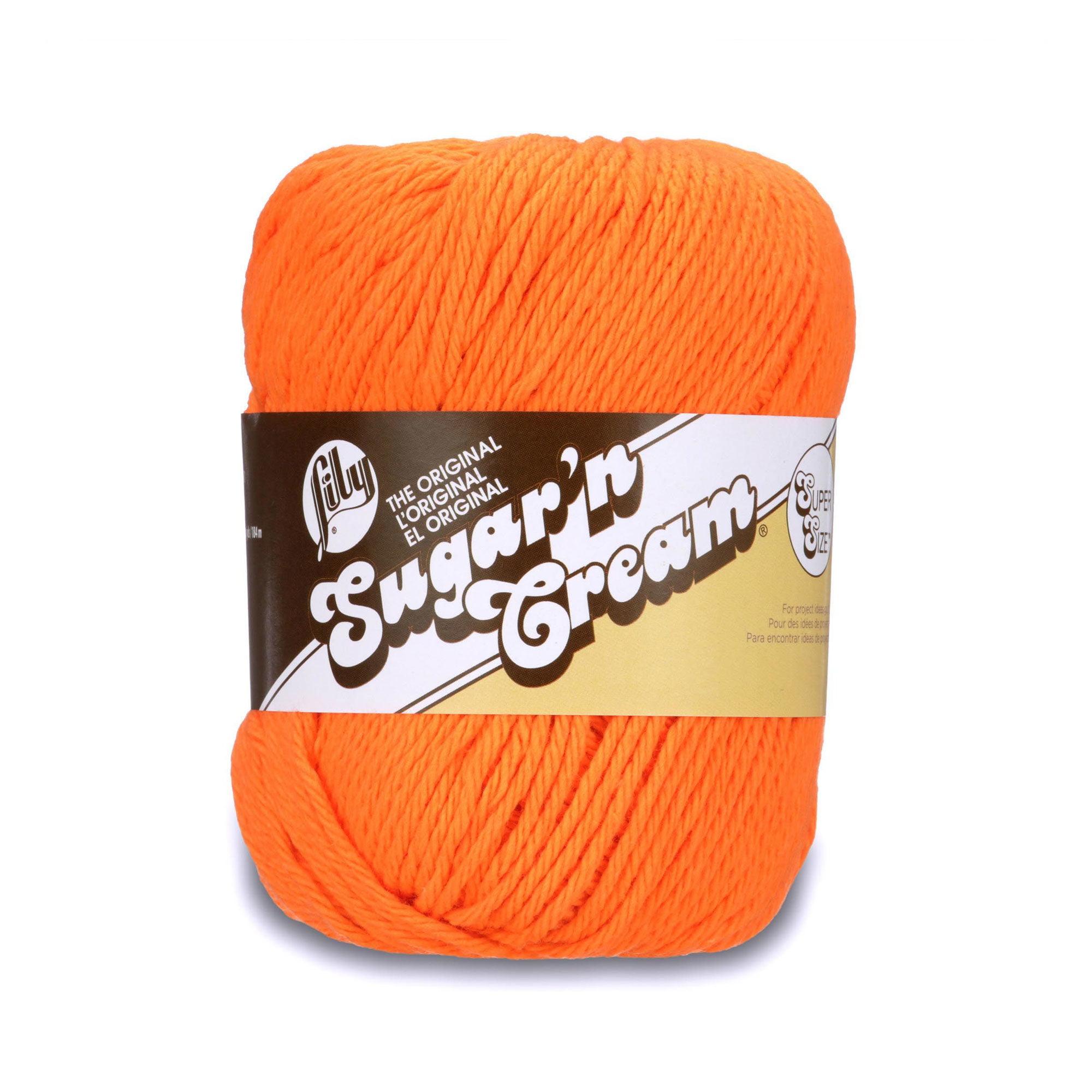 Lily Sugar'n Cream Super Size Yarn, 4 Oz, Hot Orange