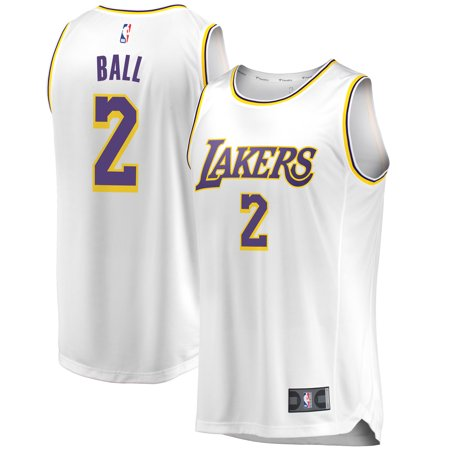 Lonzo Ball Los Angeles Lakers Fanatics Branded Fast Break Jersey - Association  Edition - White - Walmart.com a19f6b7b0