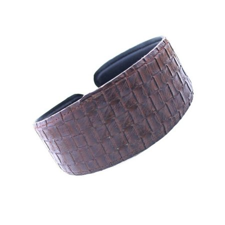 CARAVAN® WIDE AND COMFORTABLE LEATHER BASKET WEAVE HEADBAND IN COLORS