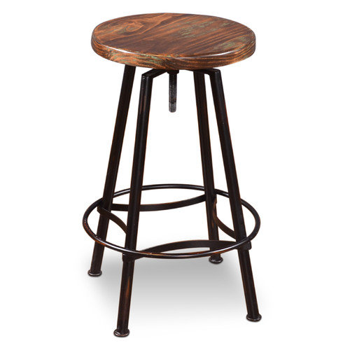 Sunset Trading Cabo Adjustable Height Swivel Bar Stool