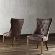 Tribecca Home  Atelier Traditional French Burnisd Brown Oak Dining Chair (Set of 2)