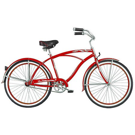 26 micargi tahiti men 39 s beach cruiser bike red. Black Bedroom Furniture Sets. Home Design Ideas