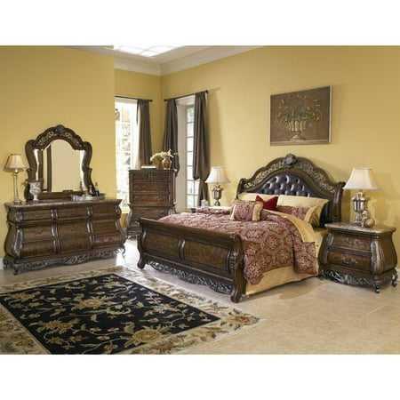 Pulaski Queen Bedroom Setbirkhaven Dresser Mir Chest